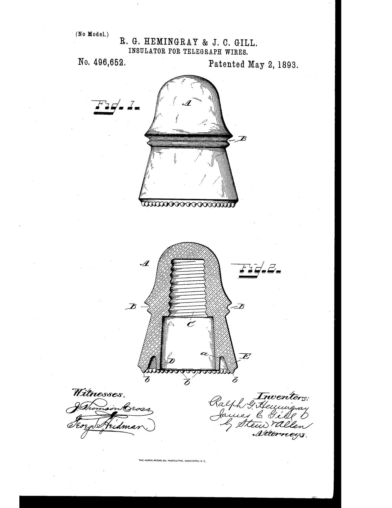 Hemingray Drip Points Patent