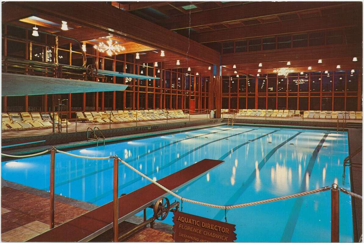 Grossinger's Resort Pool Postcard