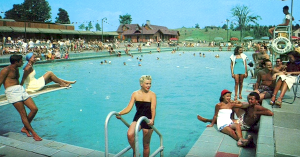 Grossinger's Resort Outdoor Pool Old Photo