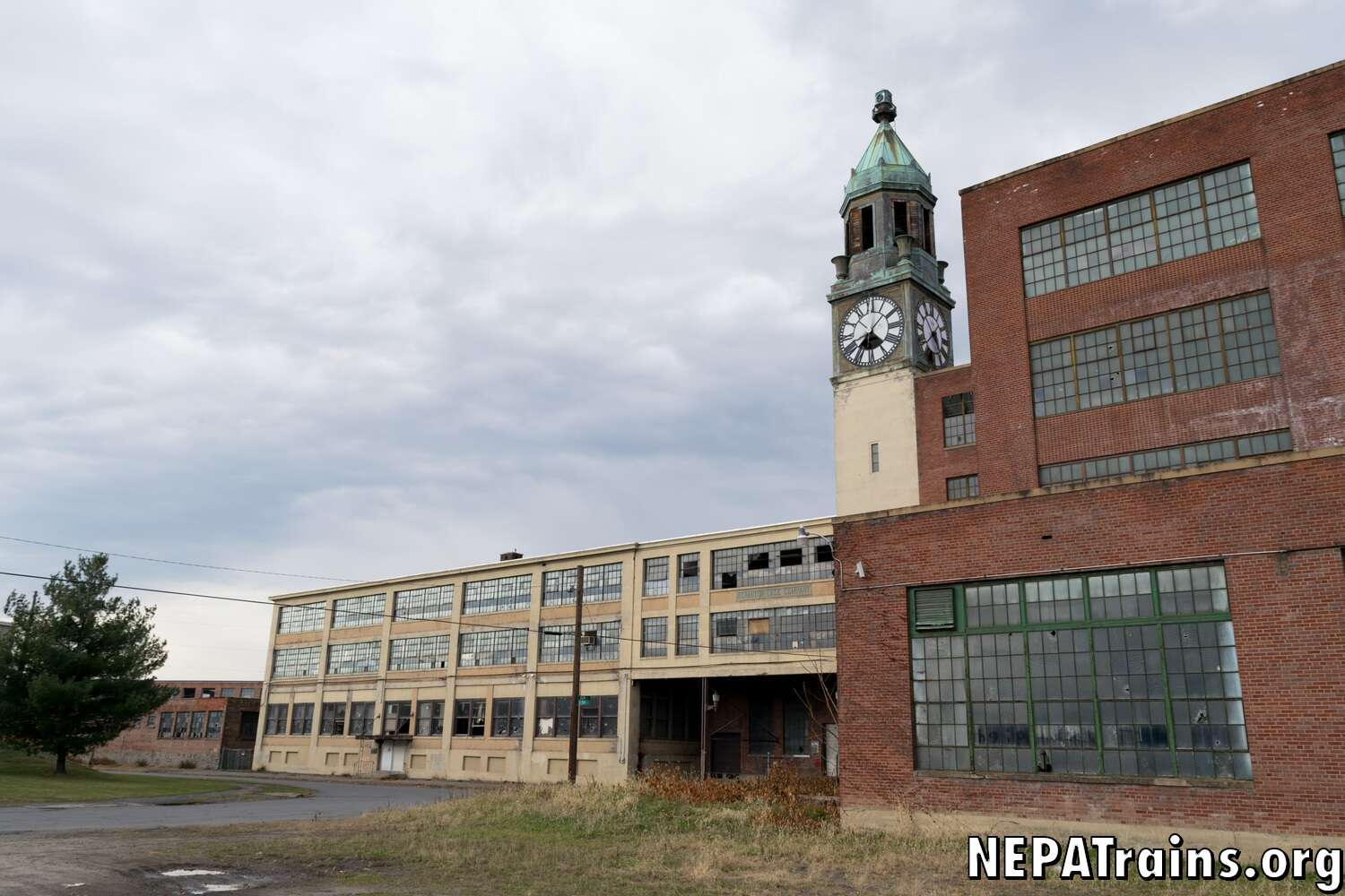 Scranton Lace Factory Main Entrance and Clock Tower