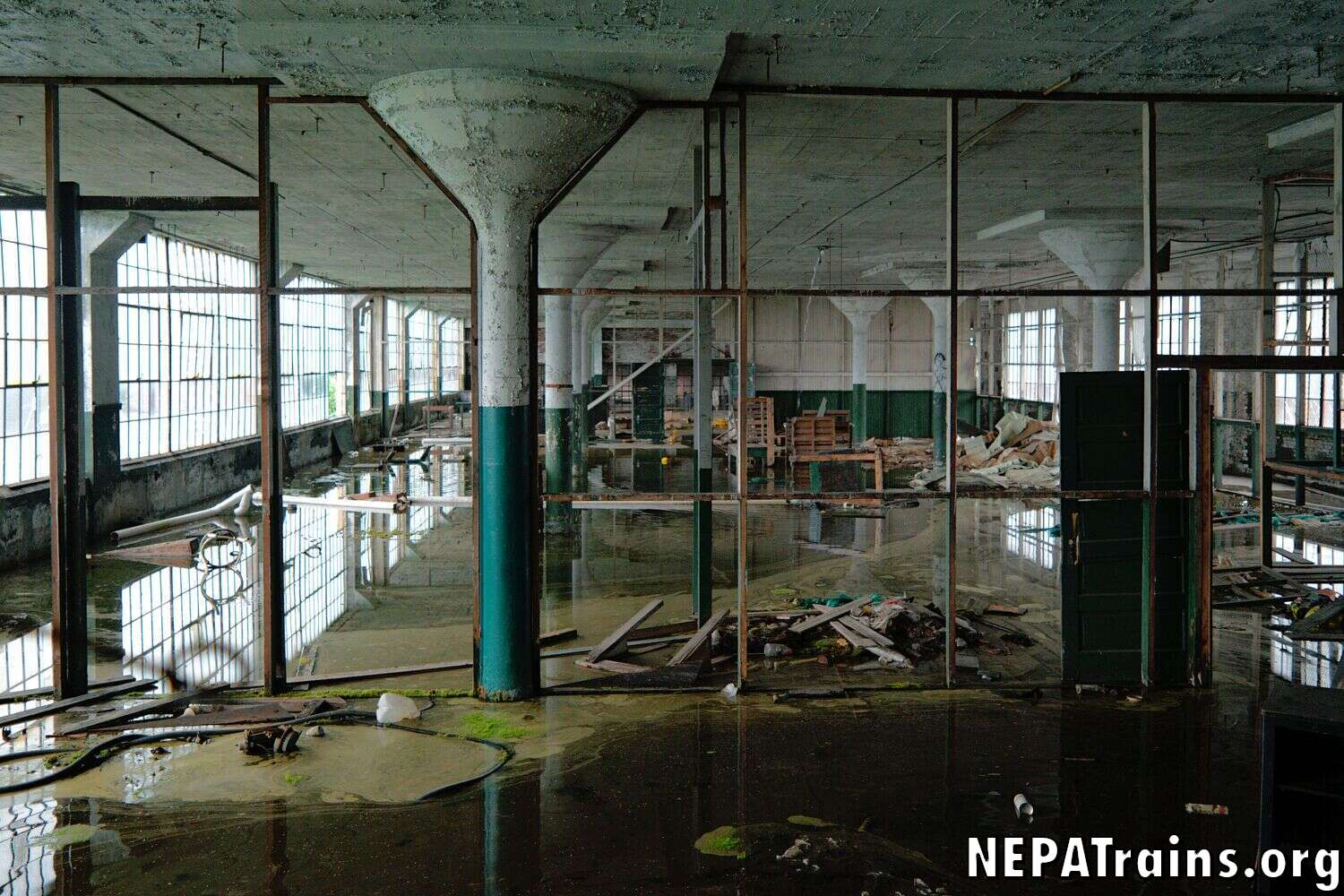 Scranton Lace Factory Flooded Room